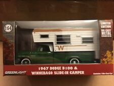 Greenlight  1967 Dodge  D-100 Pickup  w/ Winnebago  Slide - In Camper