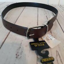 "Polo Ralph Lauren Mens Reversible Leather 1 1/4"" Belt Brown Black 36"" H051"