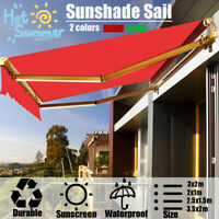 Sunshade Sail Shop Retractable Canopy Outdoor Folding Waterproof Awning Cover