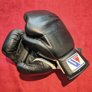 Vintage used Winning boxing bag gloves gants de boxe MGS-200