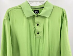 FootJoy Golf Polo Shirt Mens Size Large Lime Green Stretch Lightweight Pre-Owned