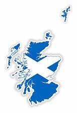 Sticker Silhouette Scotland Map Flag for Bumper Skateboard Locker Tablet