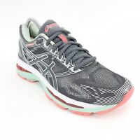 ASICS Women's Gel-Nimbus 19 Athletic Running Shoes Sneakers Gray/Teal Size 7 US