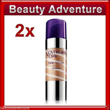 2x Covergirl & Olay Tone Rehab 2-in-1 Foundation Classic Tan #160- Full Size