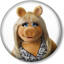 """Miss Piggy 25mm 1"""" Pin Button Badge Sesame Street Retro Kids TV Muppets Puppet 1"""