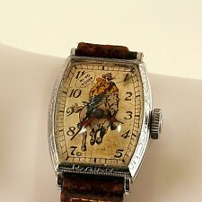Vintage Lone Ranger Wristwatch Unique Complete Non-Running NR
