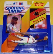 1992 FELIX JOSE St. Louis Cardinals Rookie - low s/h - sole Starting Lineup