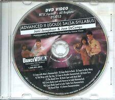 SALSA Advanced II Gold Syllabus Josephson & DeCamps Dance Vision DVD