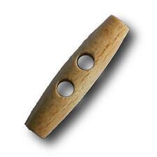 5 klassische hellbraune Holz Knebel Knöpfe für Jacken, Mäntel, etc. (h999h-50mm)