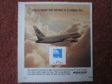 10/1982 PUB BOEING 767 AIRLINER EL AL ISRAEL AIRLINES ORIGINAL AD