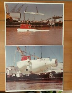 USN DSV-3 TURTLE DEEP OCEAN RESEARCH SUBMARINE VEHICLE OFFICIAL NAVY PHOTOGRAPHS