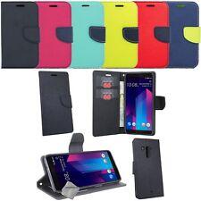 Housse etui coque pochette portefeuille pour HTC U11+ (U11 Plus) + verre trempe