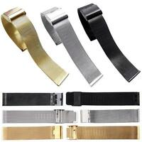 Hot Milanese Stainless Steel Buckle Watch Mesh Band Strap Bracelet 18/20/22/24MM