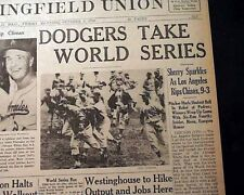 LOS ANGELES DODGERS BUMS Wins World Series Baseball Champions 1959 Old Newspaper