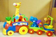 FISHER  PRICE  AMAZING  ANIMAL  TRAIN  WITH CART  AND  3 ANIMALS   (A)