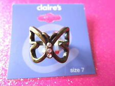Butterfly Ring Size 7