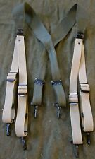 WWII US ARMY M1936 COMBAT FIELD EQUIPMENT BELT SUSPENDERS-TRANSITIONAL