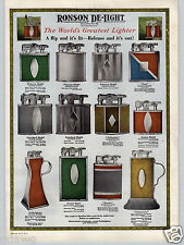 1930 PAPER AD 2 Sided Ronson Perfu-Mist Perfume Spray De Light Cigarette Lighter