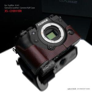 Gariz XS-CHXH1BR Genuine Leather Half Case for Fujifilm Fuji XH1 X-H1 Brown