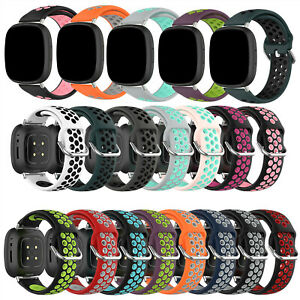 Silicone Strap Replacement Wristwatch Band for Fitbit Versa3/ Fitbit Sense Watch