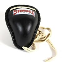 Sandee Black Thai Metal Groin Guard Muay Thai Boxing Kicboxing Cup Groin