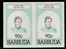 Barbuda (621) 1981 90c Marie Curie IMPERF COPPIA U/M