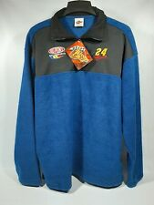 Winners circle Jeff Gordon 24 Nascar Fleece xl 1/4 Zip Pullover blue NWT new