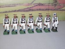 LANGLEY MINIATURES BRITISH NAVAL LANDING PARTY METAL TOY SOLDIERS X7 1/32 SCALE