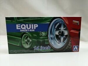 1/24 scale Aoshima EQUIP SHORT RIM 14inch wheels tyres New tuning parts