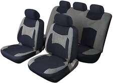 LAGUNA SECA UNIVERSAL FULL SET SEAT PROTECTOR COVERS GREY & BLACK FOR SKODA