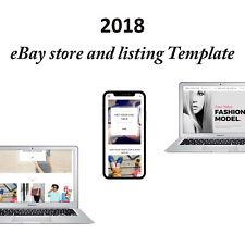 eBay Shop Store & Listing Template Design + RESPONSIVE DESIGN 2018