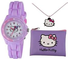 TIKKERS HELLO KITTY GIRLS TIME TEACHER WATCH, PURSE & NECKLACE SET - RRP:£19.99