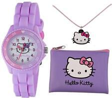 TIKKERS Hello Kitty Niñas Reloj de profesor de tiempo, bolso y collar conjunto-PVP: £ 19.99