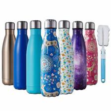 350ml-1L Thermos Vacuum Flask Insulated Drink Water Bottle Cup Steel Double Wall
