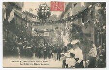 Dourdan. Festival du 1er Juillet 1906. Le Défilé rue Haute Foulerie. 1906