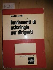 Fondamenti di psicologia per dirigenti Leavitt