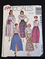 McCall's 6023 Vintage Easy Pattern Size 10-14 Misses Skirts 1992 Uncut