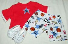 "15"" doll clothes hand made sports outfit baseball basketball soccer shirt shoes"