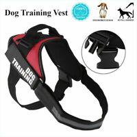 Working Dog Vest TRAINING Dog Harness Heavy Duty For Pitbull Boxer Tool WW
