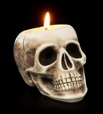 Totenkopf Schädel Kerzenhalter Gusseisen Gothic Schädel Kerzen LARP Deko