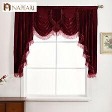 NAPEARL 1 Panel Luxury Decor Valance Rustic Waterfall Elegant Valance Curtains