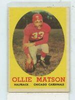 OLLIE MATSON 1958 Topps #127 Chicago Cardinals