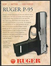 1996 RUGER P-95 P Series Pistol PRINT AD Collectible Gun Advertising