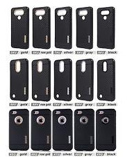 lot 5 carbon fiber Armor TPU Shockproof Protector Case for iphone samsung LG
