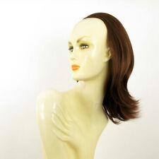 DT Half wig HairPiece extensions dark brown copper 15.7  REF :18/31