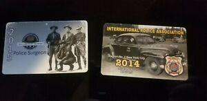 NYS New York State Police PBA card and International Police Association NYC card