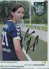 Marina Himmighofen Autogrammkarte FCR 2001 Duisburg 2012-13 Original + A 104428