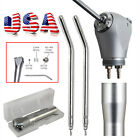 Dental 3 Way Air Water Spray Triple Syringe Handpiece w/ 2 Nozzles Tips Tubes US