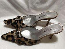 Dolce & Gabbana Pony Hair Leopard Print Mules size 36