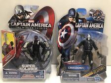 Marvel Captain America First Avenger Crossbones & WS Rocket Storm Falcon Figures